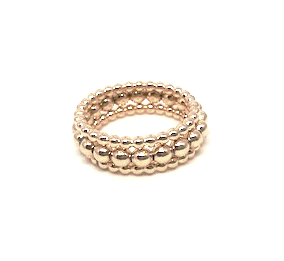 knotting hill ring stack in gold