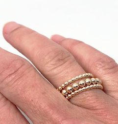 knotting hill ring stack in gold - gray market jewelry