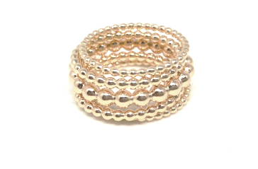 london tower ring stack in gold