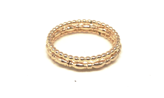 east coast ring stack in gold - gray market jewelry