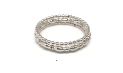 east coast ring stack in sterling - gray market jewelry