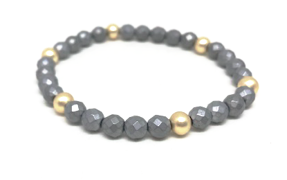 gray + gold accent bracelet - gray market jewelry