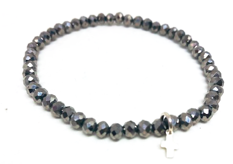 gray metallic little luxe bracelet - gray market jewelry