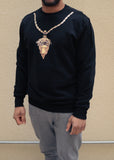 Crooks & Castles Crew Sweatshirt - Medusa Chain 2.0