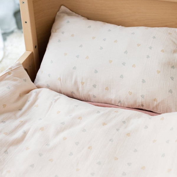 Duvet & pillow cover blossom hearts