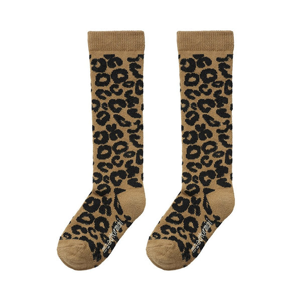 Brown leopard socks / 1-2y