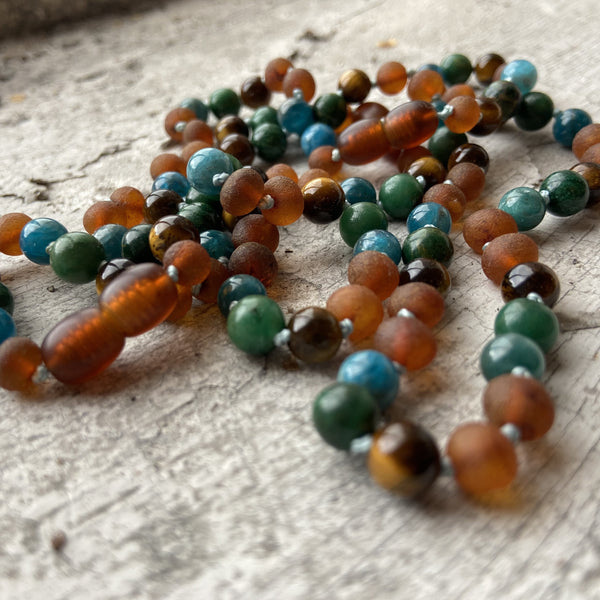 Healing amber kids necklace
