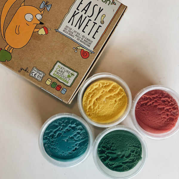 Easy-clay set Yuki red/yellow/green/blue