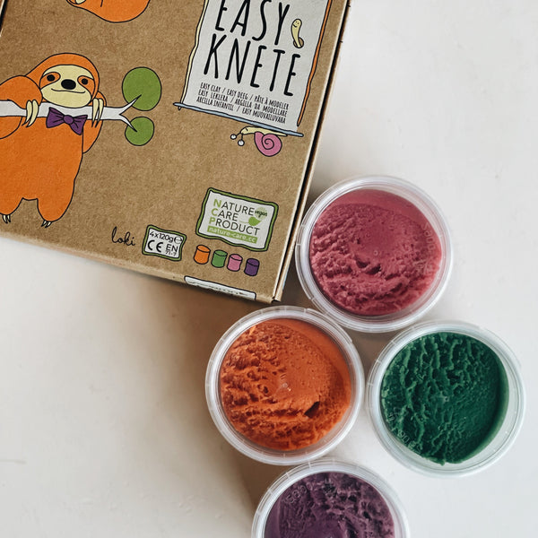 Easy-clay set Loki orange/green/pink/violet