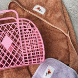 Retro basket large bubblegum pink