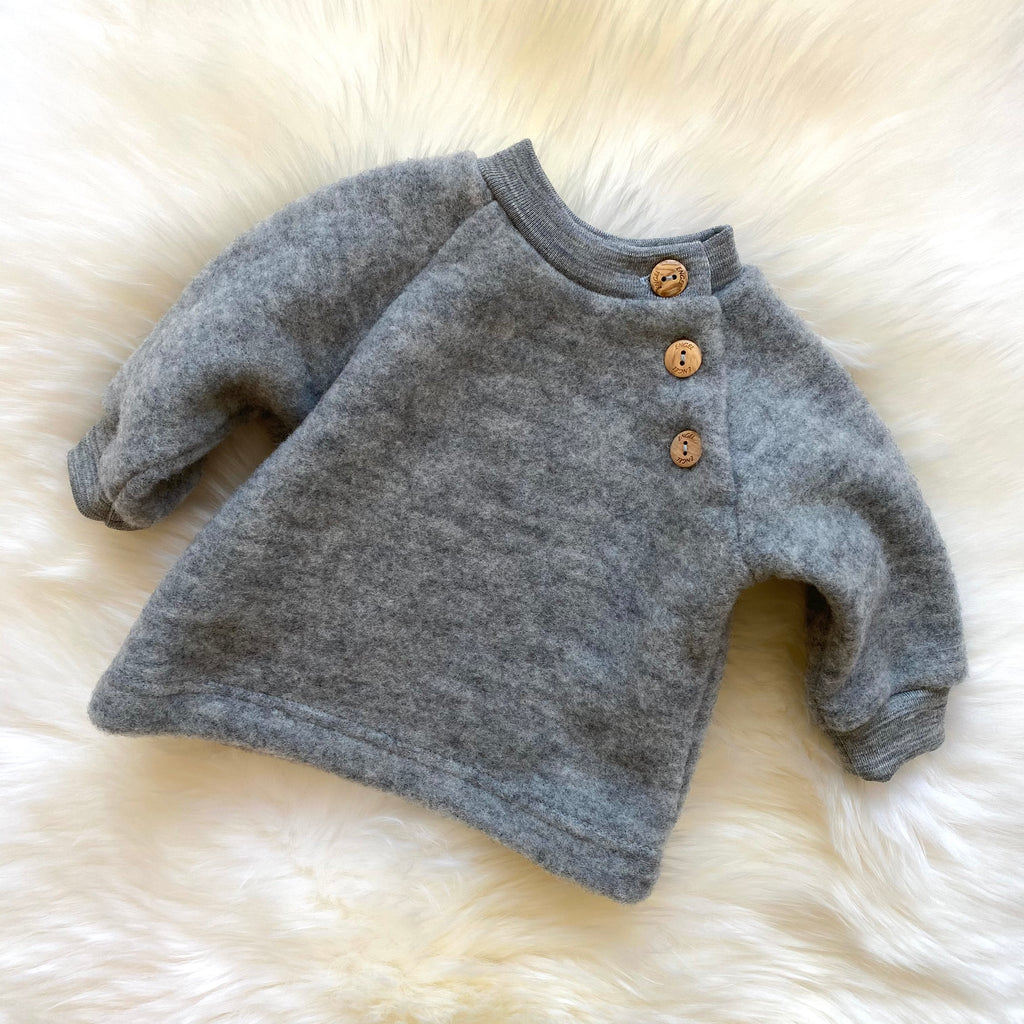 Raglan sweater light grey mélange