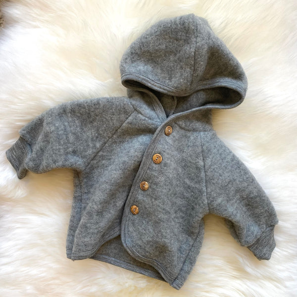 Hooded jacket light grey mélange