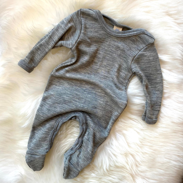 Sleep overall light grey mélange / newborn (50-56)