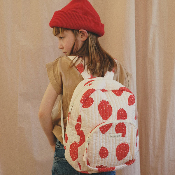 Kids backpack pink strawberry