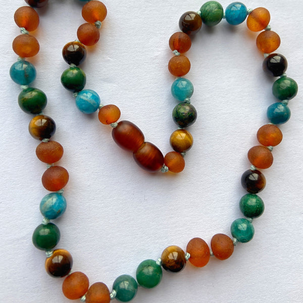 Healing amber baby necklace