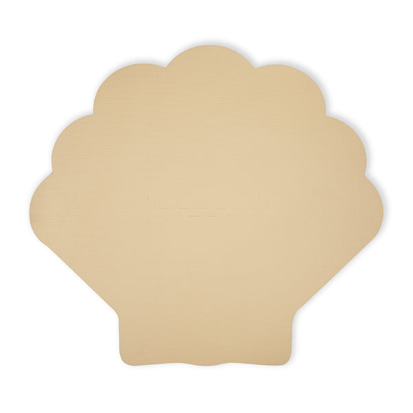 Foam play mat shell soft beige