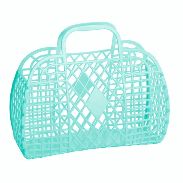 Retro basket small mint