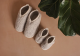 Women's merino booties cloud / 37-40
