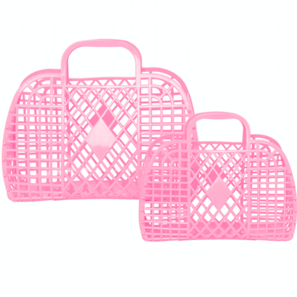 Retro basket small bubblegum pink