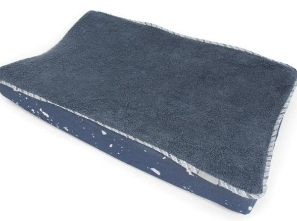 Fitted sheet changing mat denim blue