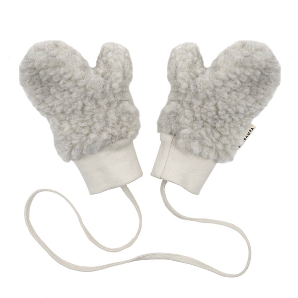 Merino baby mittens cloud / small (0-6m)