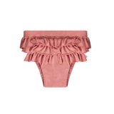 Funky flamingo ruffle swim shorts