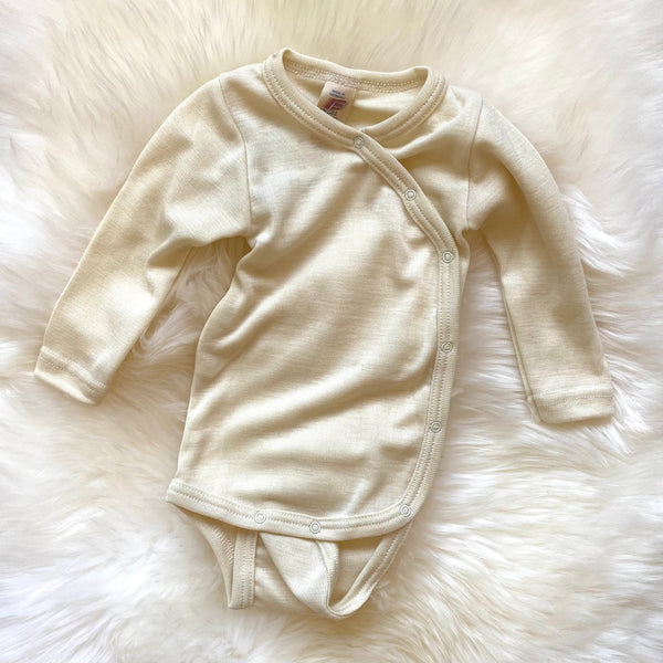 Baby body long sleeved natural