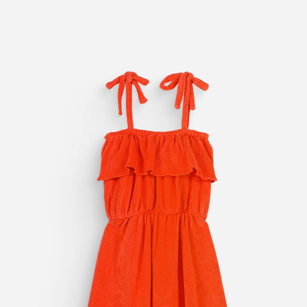 Dress Raphaelle shiny coral