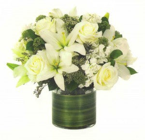 Rose & Lily Arrangement | K & M Flowers | Dearborn, Mi