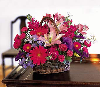 Rich and Colorful Basket | K & M Flowers | Dearborn, Mi