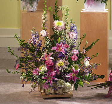 Traditional Funeral Arrangement | K&M Flowers | Dearborn, Mi