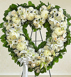 Open Heart Funeral Arrangement | K & M Flowers | Dearborn, Mi