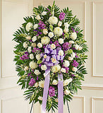 Standing Spray Funeral Arrangement | K & M Flowers | Dearborn, Mi