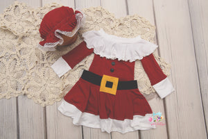 PRE-ORDER- Christmas Mrs. Claus Suit- NEWBORN