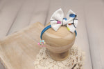 Christmas Baby Bow Headband- Made To Order- Christmas Lights