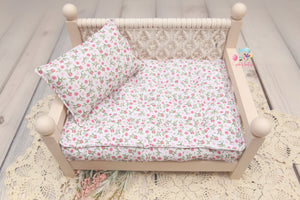 PRE-ORDER- REVERSIBLE 2 Color Rose Garden and Plaid- NB Mattress