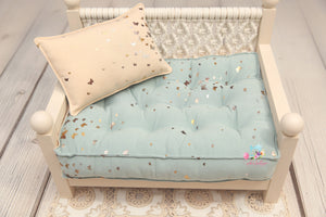 PRE-ORDER- REVERSIBLE (Size- 11x17) Two Color Gold BUTTERFLY NB Mattress