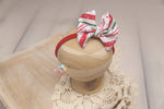 Christmas Baby Bow Headband- Made To Order- Candy Cane Stripes