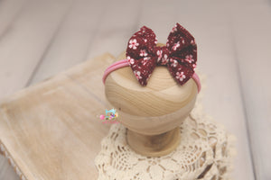 Newborn to Toddler Baby Bow Headband- Made To Order- Itty Bitty Pink