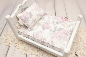 PRE-ORDER- REVERSIBLE 2 Color- Carnations & Cream - NB Mattress