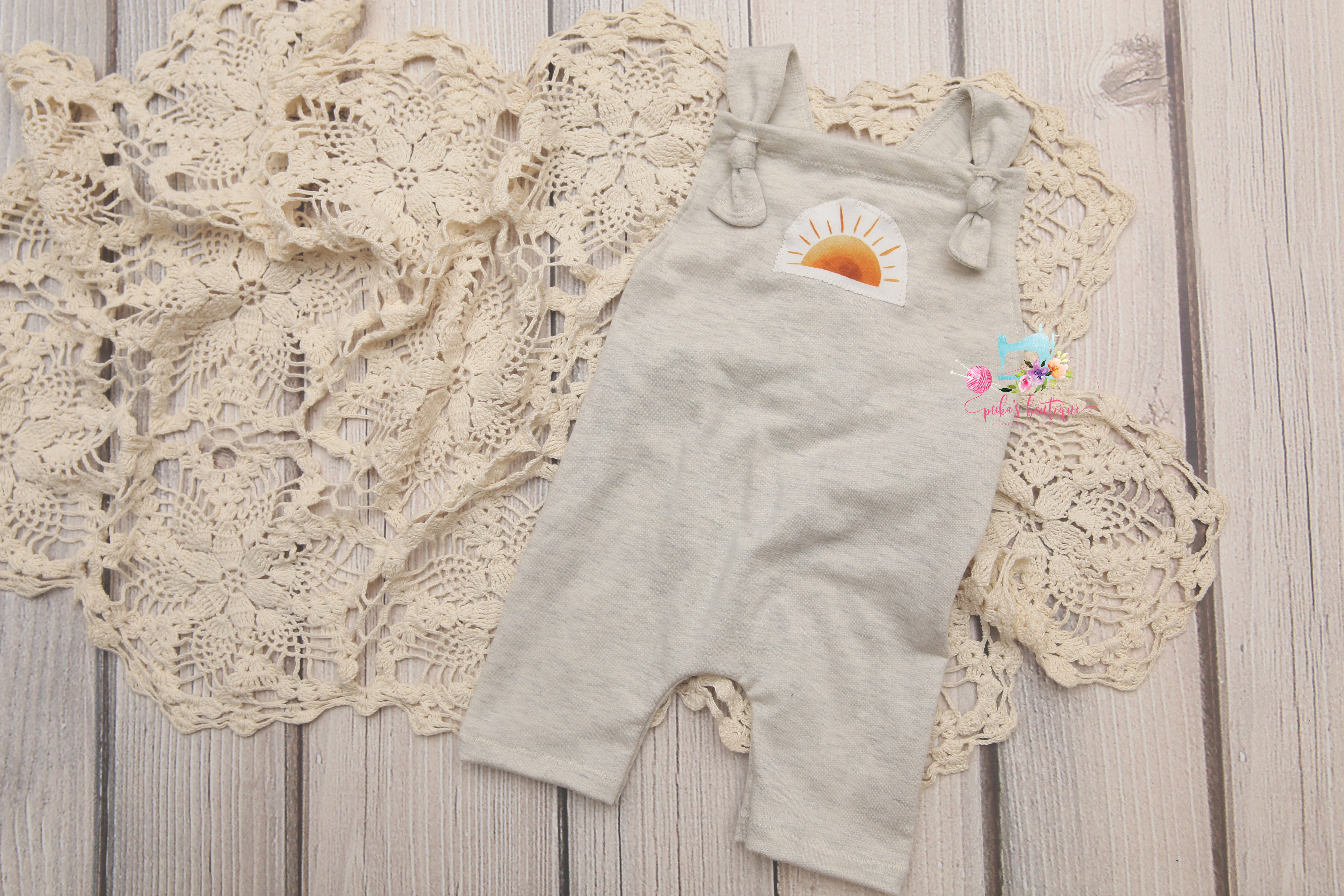 Sitter Knotty Rompers- Sunshine & Oatmeal- MADE TO ORDER