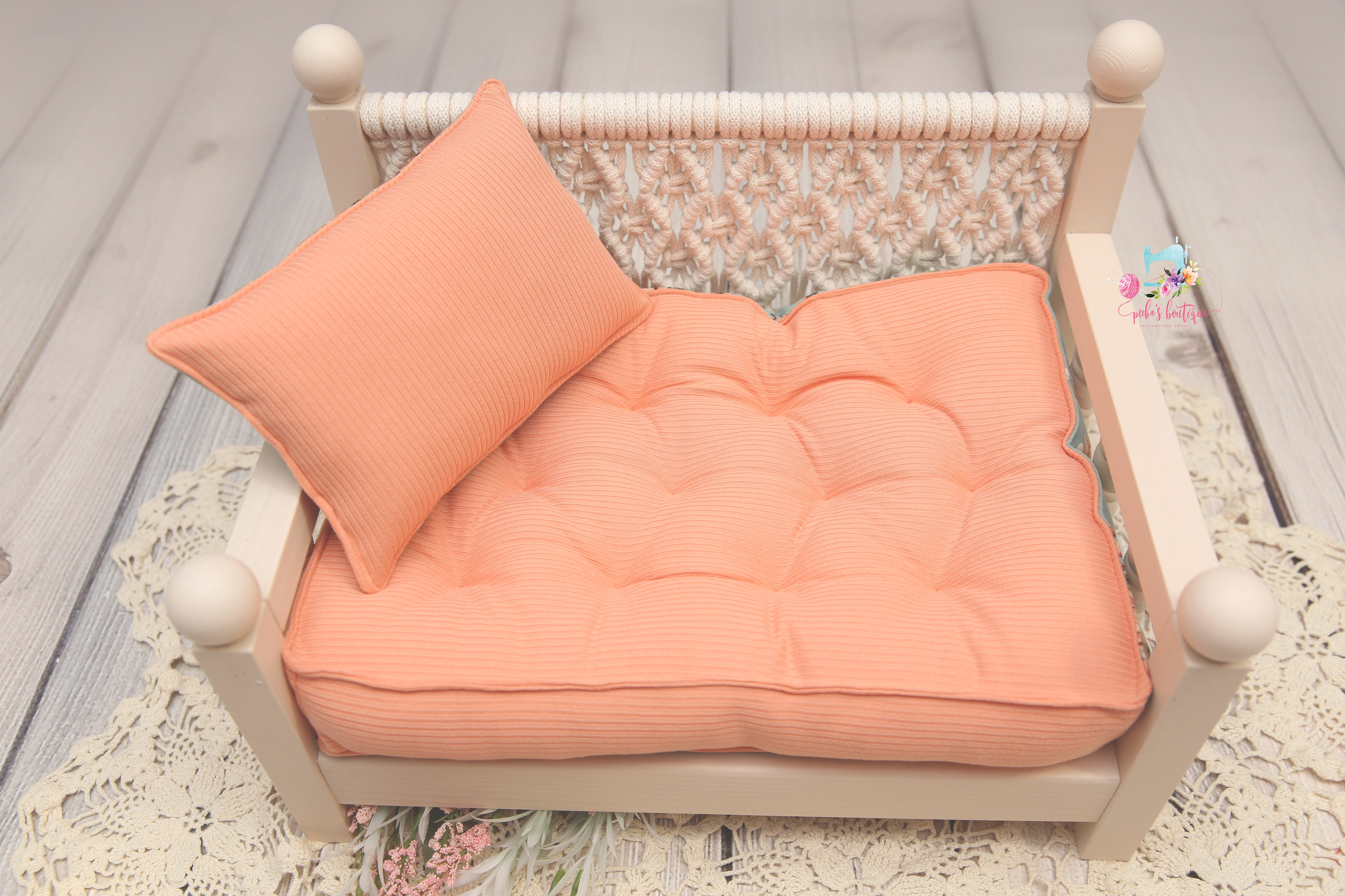 PRE-ORDER- REVERSIBLE 2 Color Garden Party & Peach- NB Mattress