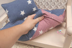 PRE-ORDER- REVERSIBLE 2 Color Boy/Girl Stars- NB Mattress