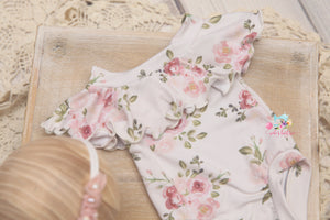 *NEW* Lilly Romper; Newborn to sitter; Hannah- MADE TO ORDER