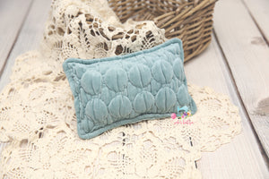 Newborn Tiffany Pillow-Harbor Teal - Made to order