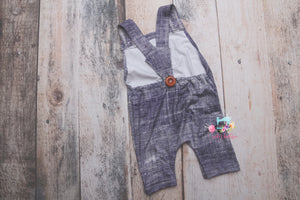 Faux Denim Suspenders-Sitter Size- MADE TO ORDER