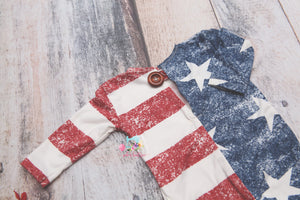 The Patriot Sleeper Jammie- Newborn or Sitter- MADE TO ORDER