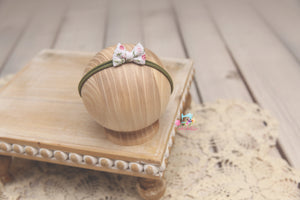 Baby Bow Headband- Made To Order- Rose Garden