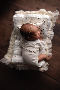 PRE-ORDER- REVERSIBLE 2 Color Gold Star NB PILLOW