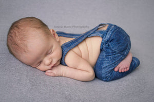 Newborn or Sitter Linen Suspenders- MADE TO ORDER- Raven